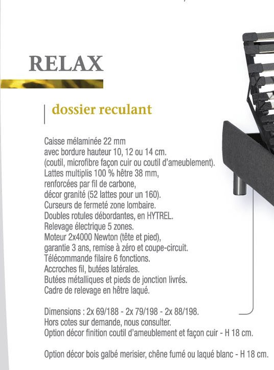 Sommier Relax Compagnie